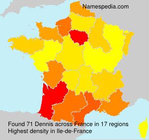 Familiennamen Dennis - France