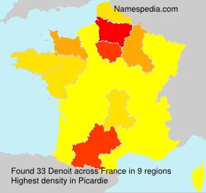 Surname Denoit in France