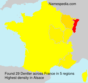 Surname Dentler in France