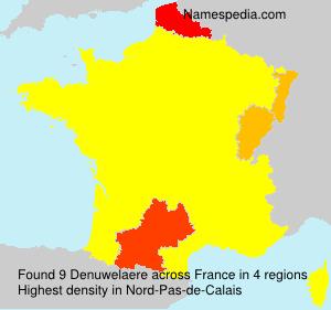 Surname Denuwelaere in France