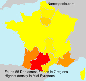 Surname Deo in France