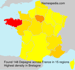 Surname Depagne in France