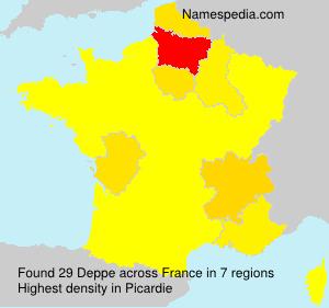 Surname Deppe in France