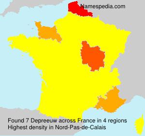 Familiennamen Depreeuw - France