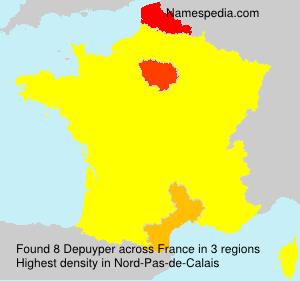 Surname Depuyper in France