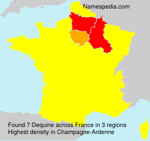 Surname Dequine in France