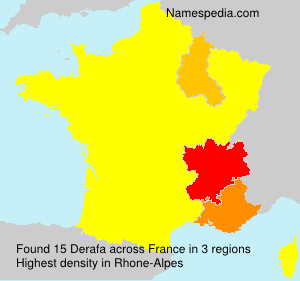 Surname Derafa in France