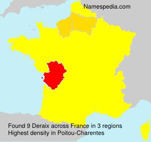 Familiennamen Deraix - France