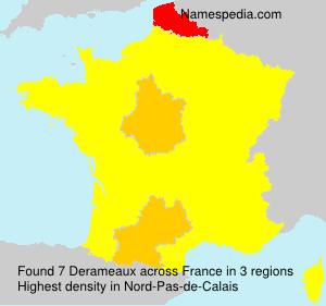 Surname Derameaux in France