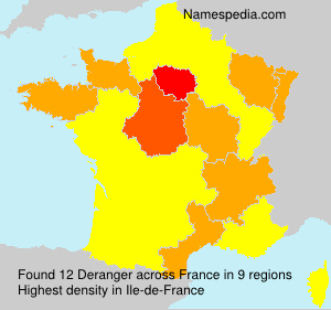 Surname Deranger in France