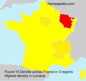 Surname Deratte in France