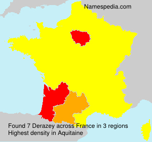 Surname Derazey in France