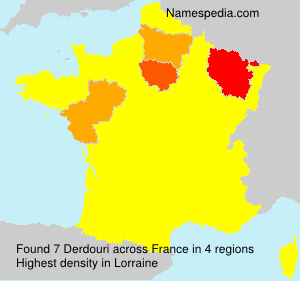 Surname Derdouri in France