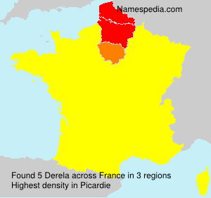 Surname Derela in France