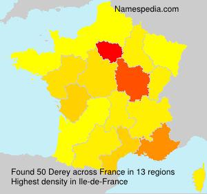 Surname Derey in France