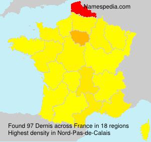 Surname Dernis in France