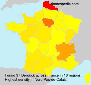 Surname Derouck in France