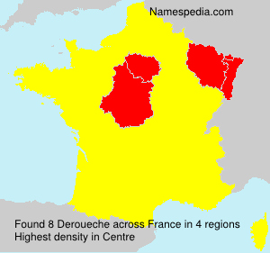 Surname Deroueche in France