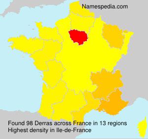 Familiennamen Derras - France