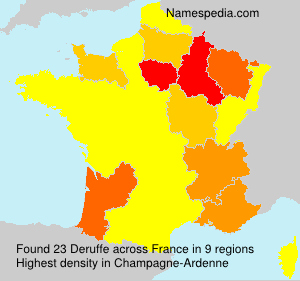 Surname Deruffe in France
