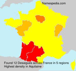 Surname Desaigues in France