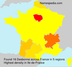 Surname Desbonne in France