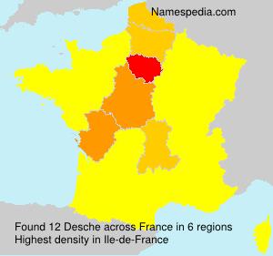 Surname Desche in France