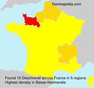 Surname Deschrevel in France