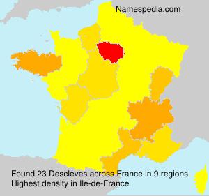 Surname Descleves in France