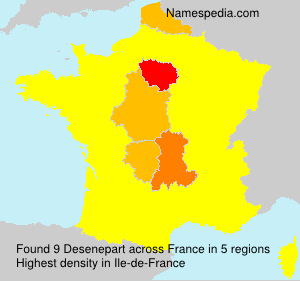 Surname Desenepart in France