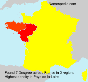 Surname Desgree in France