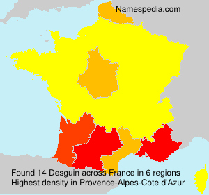 Surname Desguin in France