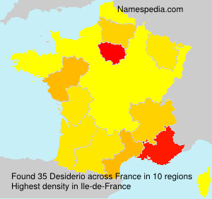 Surname Desiderio in France
