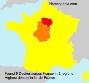 Surname Desirer in France