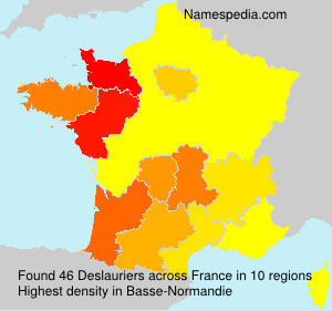 Surname Deslauriers in France