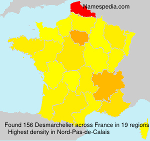 Surname Desmarchelier in France