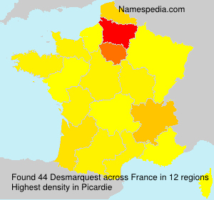 Surname Desmarquest in France