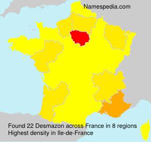 Surname Desmazon in France
