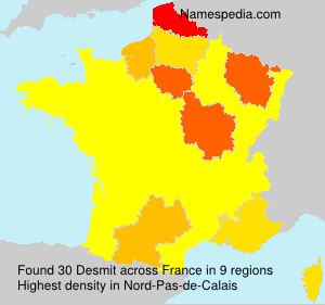 Surname Desmit in France