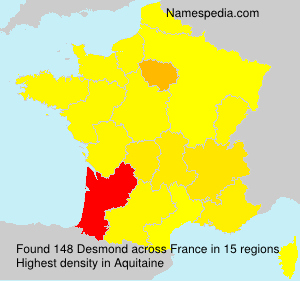 Surname Desmond in France