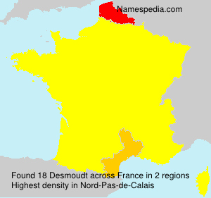 Surname Desmoudt in France