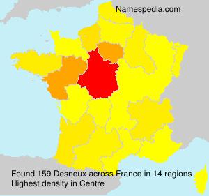 Familiennamen Desneux - France