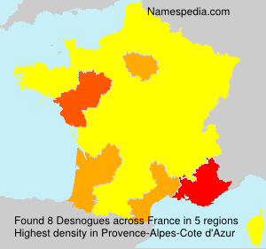 Surname Desnogues in France