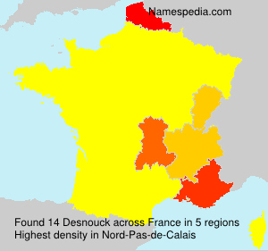 Surname Desnouck in France