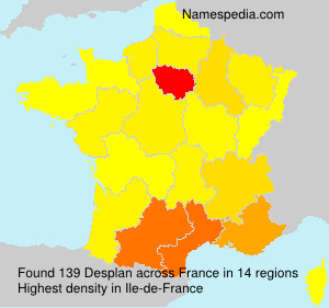 Surname Desplan in France