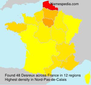Surname Desreux in France