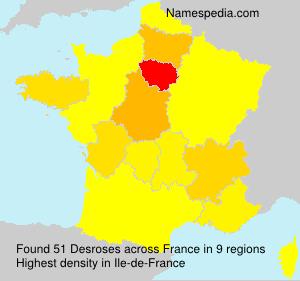 Surname Desroses in France