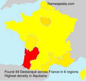 Familiennamen Destanque - France