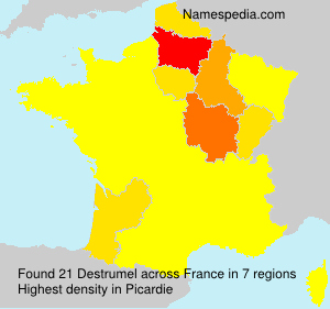 Surname Destrumel in France