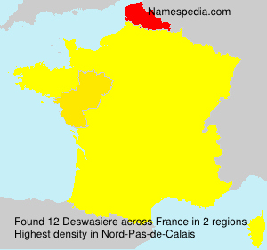 Surname Deswasiere in France